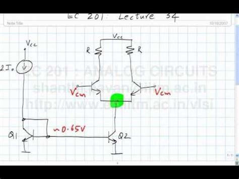 lecture   differential pair continued common mode