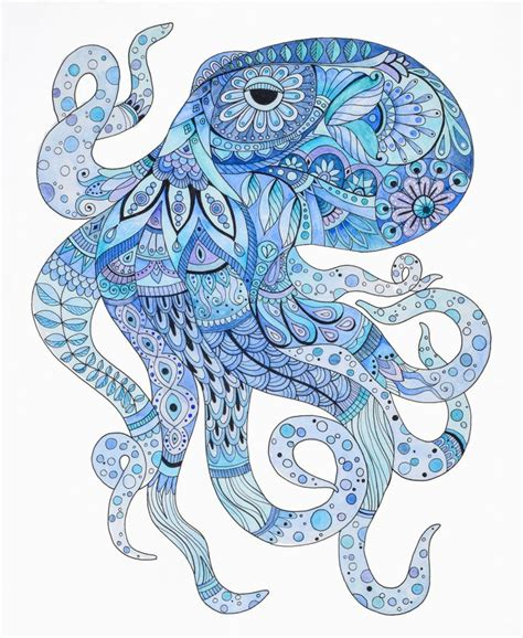 watercolor zentangle tattoo best 25 octopus illustration ideas on octopus