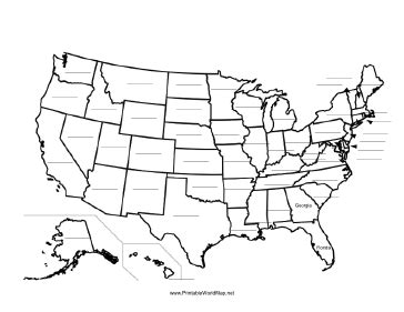 blank copy of united states map this printable map of the united states of america has