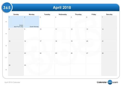 Calendar 2018 Easter Easter 2018 2018 Calendar Printable
