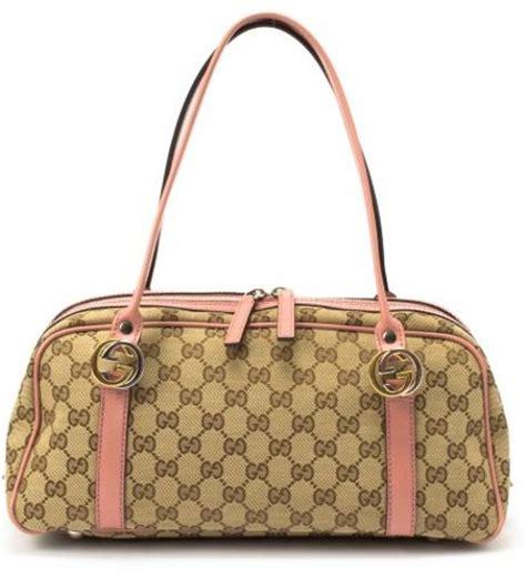 Tas Gucci Boston Mini Kanvas gucci preowned beige and pink gg canvas mini boston bag in beige lyst