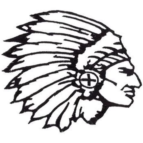 mohawk outline designs indian chief head outline indian chief pinterest