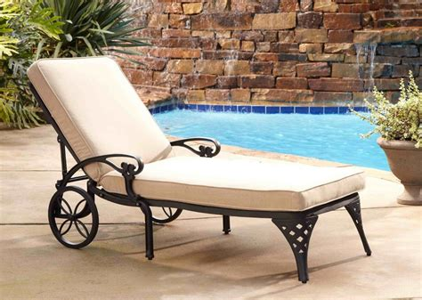 home styles biscayne black chaise lounge chair taupe