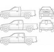 CAR Blueprints  2007 GMC Canyon Pick Up Blueprint