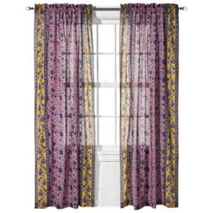 Boho Window Curtains Boho Boutique Agyness Rod Pocket Window Panel Petunia 42x84 By Boho Boutique