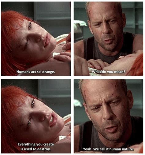 Fifth Element Meme - milla jovovich doesn t understand human nature as bruce