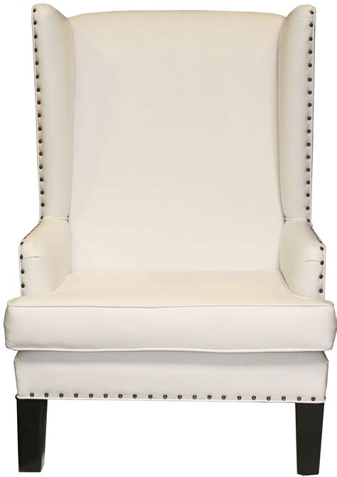 White Leather Wingback Chair Design Ideas Wing Chair With Nailheads Chair Design Ideas