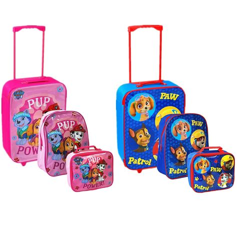 nickelodeon 174 paw patrol travel trolley luggage backpack