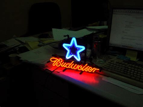 dallas cowboys bud light nfl dallas cowboys budweiser neon light sign 13 quot x 8 quot neon