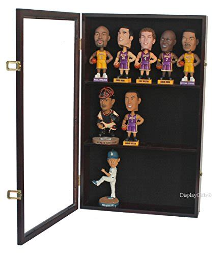 bobblehead wall display bobble wobbler figurine display wall cabinet