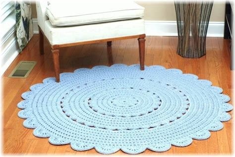 how to crochet a rug out of yarn handy crafter custom crocheted doily rug and crocheted pouf