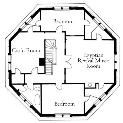 Octagon Floor Plans by Third Floor Plan The Armour Stiner Octagon House