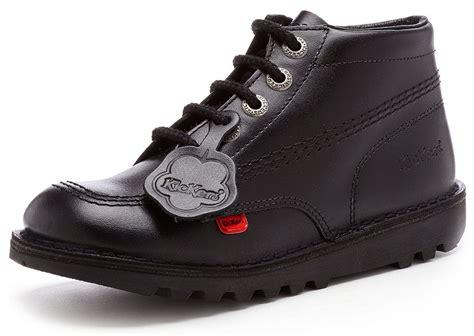 Kickers Boots Kulitt kickers kick hi kern kinder leder stiefeletten schwarz