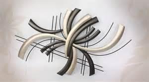 d 233 co murale moderne de style abstrait en m 233 tal noir et argent