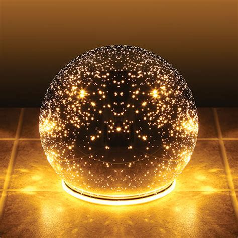 Outdoor Light Spheres Lighted Mercury Glass Sphere Starry Points Of Light Mirror Reflection Cordless At