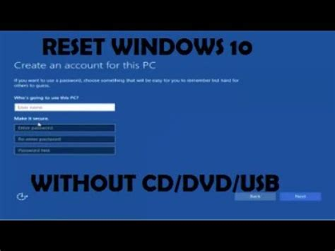 resetting windows without disk reinstall windows 10 without dvd or usb howtosolveit