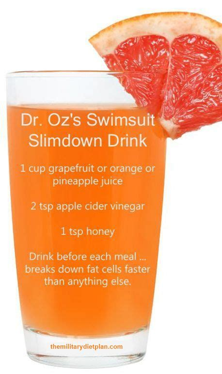 Cellulite Detox Juice by Dr Oz Breakdown Burner Juice Weight Loss Personal
