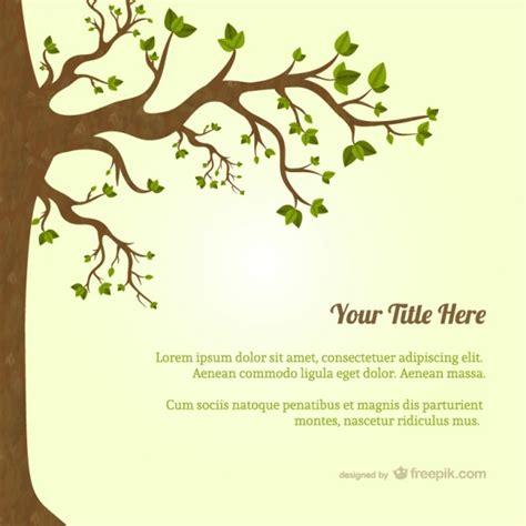 Kostenlose Vorlage Baum Baum Mit Bl 228 Ttern Vorlage Der Kostenlosen Vektor