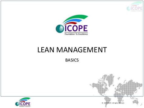Lean Operations Mba by Lean Management Basics