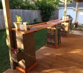 Diy Patio Bar Ideas by Diy Outdoor Cinder Block Bar Cinderblock Baroutdoor Ideas
