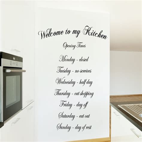 kitchen design quotes welcome to my kitchen wall art quote sticker kitchen