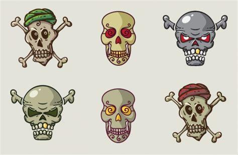 imagenes de calaveras soldados conjunto de calaveras en estilo de dibujos animados