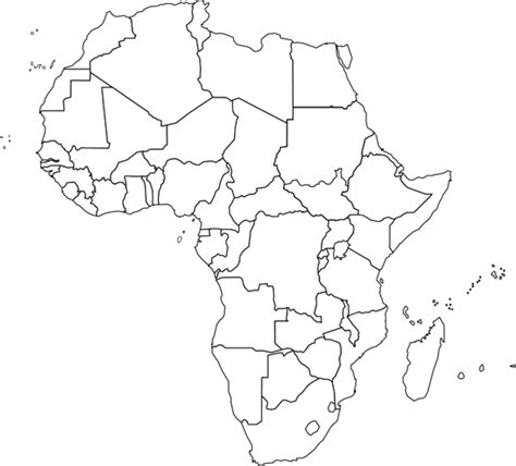 World Atlas Outline Map Of Africa africa outline map