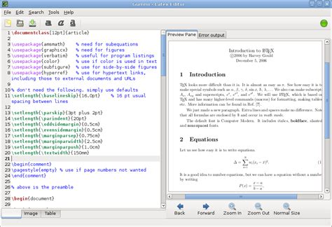 tutorial on latex software gummi simple latex editor written in python gtk ubuntu