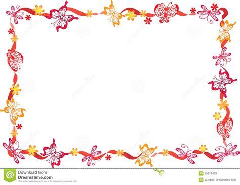 tekening vlinder met bloem vlinder met kader stock illustratie illustratie bestaande