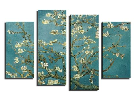 panel impression blooming apricot flower canvas