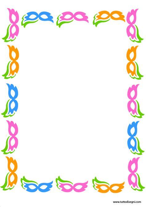 cornici carnevale cornicetta di carnevale con maschere tuttodisegni