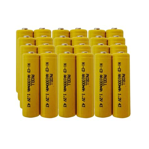 24 Nicd 1000mah 1 2v Aa Rechargeable Solar Light Batteries Rechargeable Aa Batteries For Solar Lights