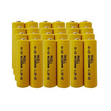 24 Nicd 1000mah 1 2v Aa Rechargeable Solar Light Batteries Ni Cd Rechargeable Batteries For Solar Lights