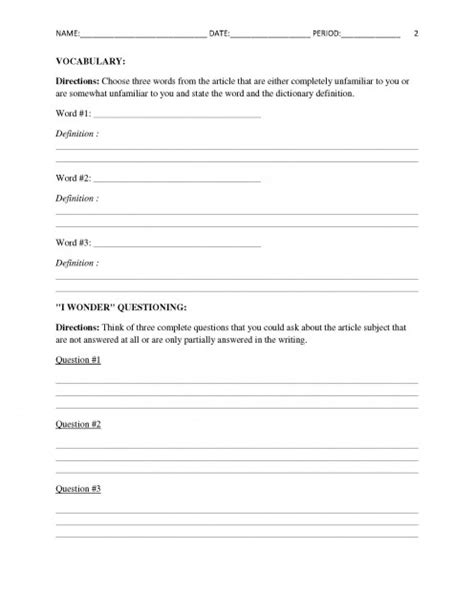 Current Events Worksheets by Free Current Events Report Worksheet For Classroom Teachers