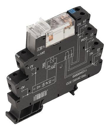 Relay Weidmuller 1123490000 dpdt din rail interface relay module
