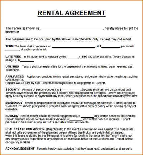 rental home agreement template 3 house rental agreement teknoswitch