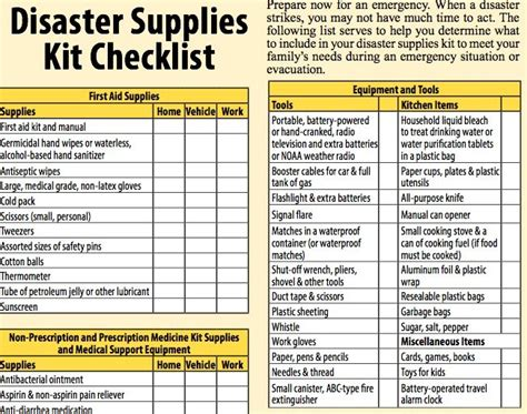 disaster preparedness for seniors the checklist
