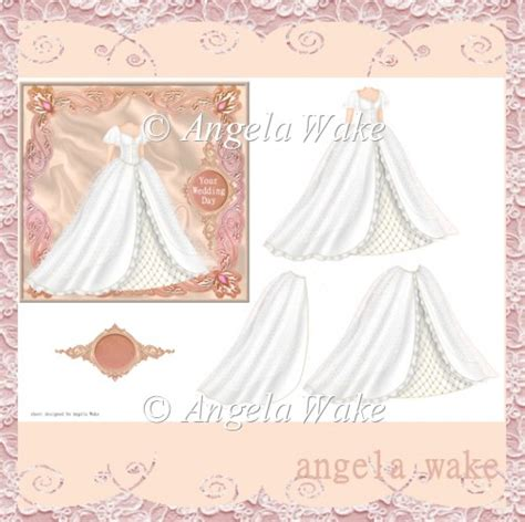 Wedding Decoupage Sheets - wedding dress decoupage sheet aw50