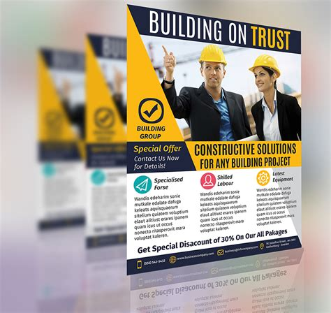 construction flyer templates construction business flyer template vol 2 by aboanas dzn