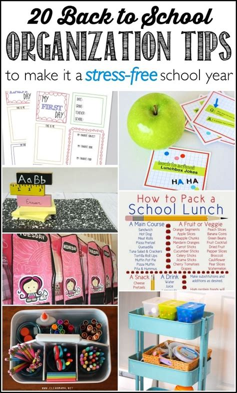 organization tips for school 17 best images about organized for school on pinterest