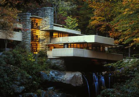 Haus Fallingwater by Kaufmann House Fallingwater Frank Lloyd Wright