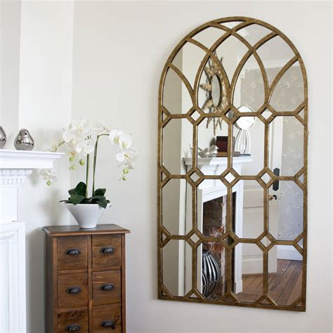 Window Mirrors Decorative by Rustic Gold Metal Window Mirror By Decorative Mirrors