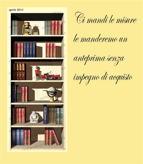 trompe l oeil libreria trompe l oeil librerie adesive per porte e pareti lisce