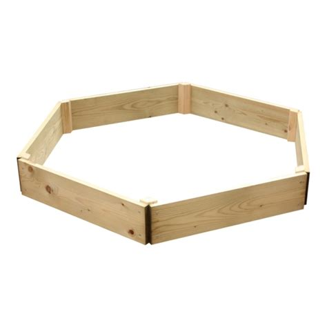 Landscape Timber Hexagon Hexagonal Raised Bed
