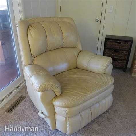 how to clean leather recliner chair house cleaning tips the family handyman