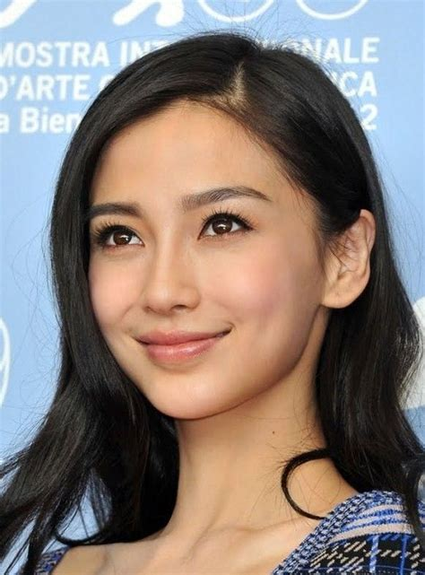 round faced chinese celebrity full eyebrows asian angelababy a s i a n b e a u t y