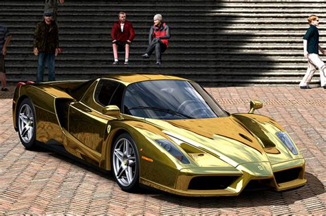 chrome gold ferrari ferrari enzo gold chrome flickr photo sharing