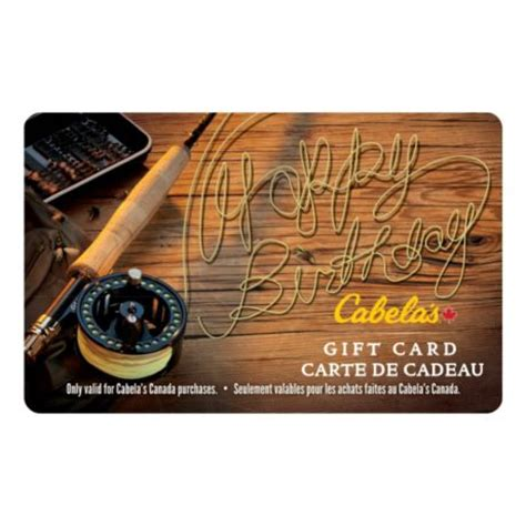 Fishing Gift Cards - cabela s canada gift card fly fishing happy birthday cabela s canada