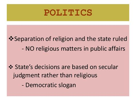 secularism politics religion and challenges of secularism to the muslims