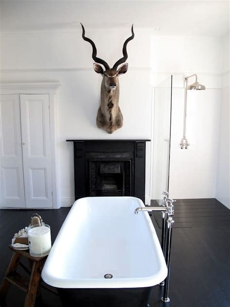deer bathroom bathroom white deer head home pinterest